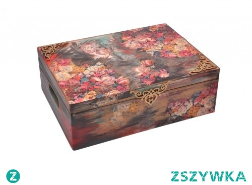 Duży kufer DECOUPAGE