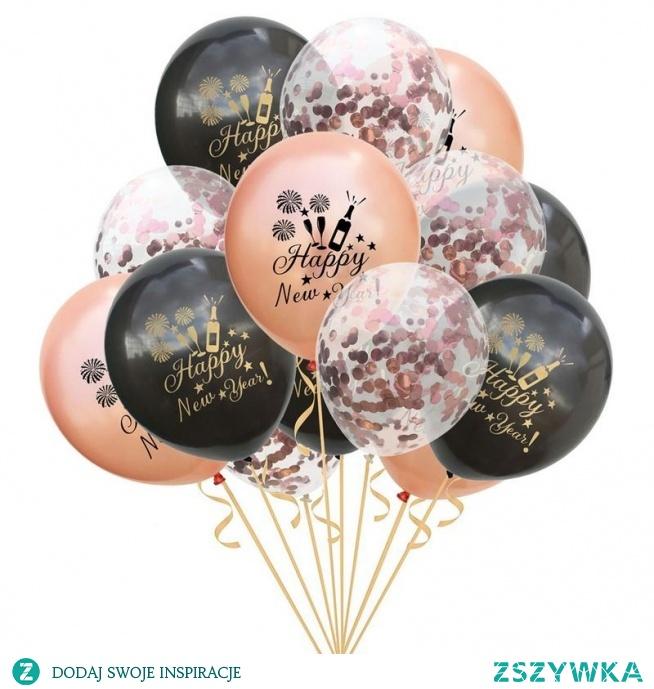 """15 sztuk 12 """"lateksowe okrągłe konfetti zestaw balonów szczęśliwego nowego roku wzór kolorowe balony boże narodzenie nowy rok przyjęcie świąteczne wystrój J2 w Wiszące ozdoby od Dom i ogród na AliExpress - 11.11_Double 11Singles' Day"""