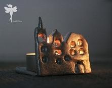 Klimatyczny świecznik ,,miasto nocą''