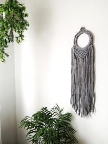Makrama na ścianę, dekoracja w stylu boho.