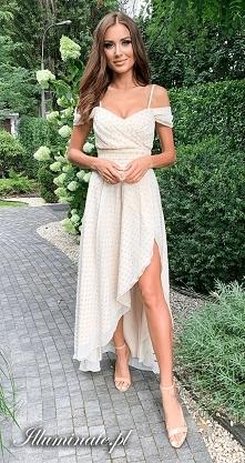 Jasna sukienka na wesele i ...