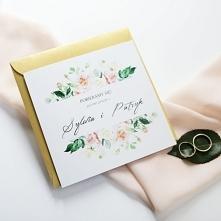 eleganckie kwiatowe zaprosz...