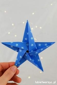 Tutorial, z którego dowiecie się, jak stworzyć śliczną, papierową gwiazdkę me...