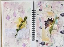 Artjournal w fioletach