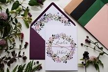 Zaproszenie ślubne - Fiolet...
