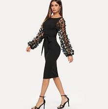 Elegancka sukienka na więks...