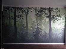 Las na ścianie
