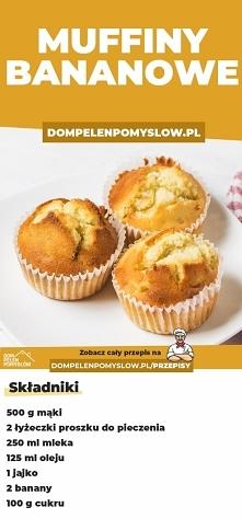 Bananowe muffiny