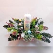 Świąteczny stroik ze świecą...