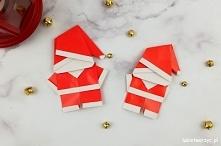 Tutorial ukazujący sposób wykonania świętego Mikołaja techniką origami ;)