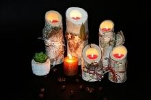 Dekoracyjne świeczniki z litego drewna azuko.pl