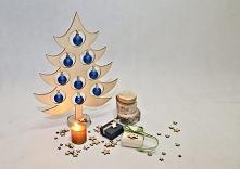 ozdobna choinka drewniana idealna na stroik świąteczny azuko.pl