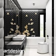 Niepowtarzalne wnętrze łazienki z oryginalną kompozycją z płytek 3d | THE ONLY GAME IN TOWN | Wnętrza domu