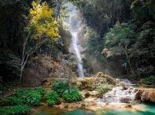 Piękny krajobraz z Laos, Az...