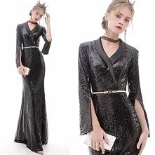 Błyszczące Czarne Sukienki ...