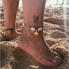 Bransoletka na nogę z musze...