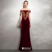 Uroczy Burgund Sukienki Wie...