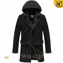 Custom Merino Sheepskin Coat with Hood CW818567 | CWMALLS.COM