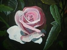 Róża - akryl