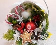dekoracja świąteczna z pier...