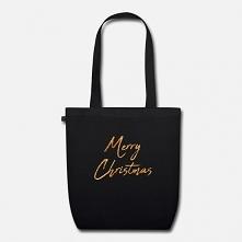 Elegancka torba na świąteczne zakupy ze złotym napisem Merry Christmas. Świetny pomysł na prezent mmikołajkowy. Zakupić można po kliknięciu w link. Wesołych świąt :)