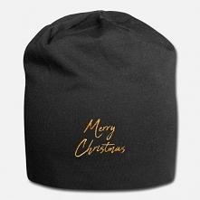 Ciepła czapka świąteczna z napisem Merry Christmas. Urocza beanie dzięki której będziesz życzyć wesołych świąt każdej mijanej osobie :) Może stanowić miły pomysł na prezent na m...