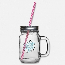 ten szklany słoik ze słomką do picia i nadrukiem Let it snow to fajny pomysł na świąteczny prezent dla dziewczyny która zawsze marzyła o takim słoiczku ale nigdy jakoś go sobie ...