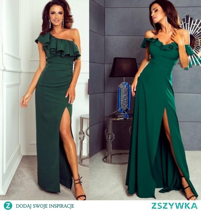 Sukienki butelkowa zieleń