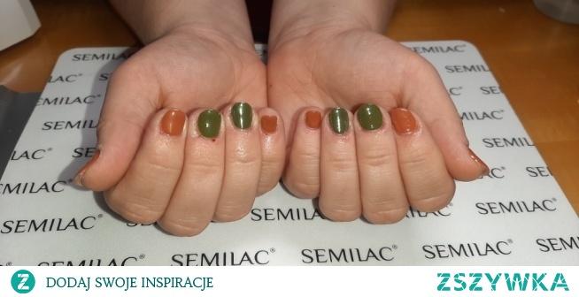 Neonail Salty Caramel, Unripe Olives, Aurora effect 04
