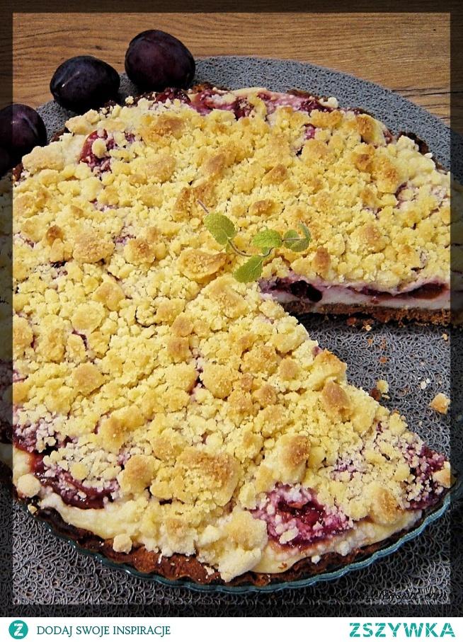 Tarta z serem i karmelizowanymi śliwkami :)