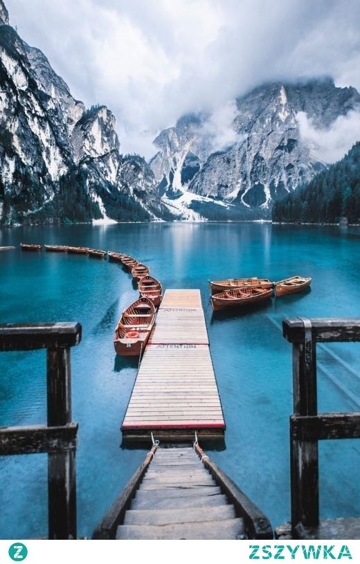 Pragser Wildsee - jezioro we Włoszech ❤️ Zapraszamy na puzzle
