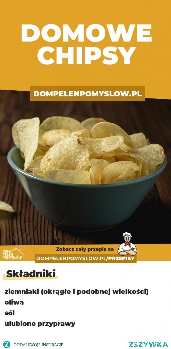 Chrupiące domowe chipsy z ziemniaków