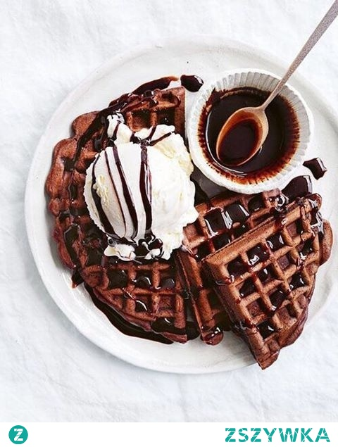 Gofry czekoladowe :D