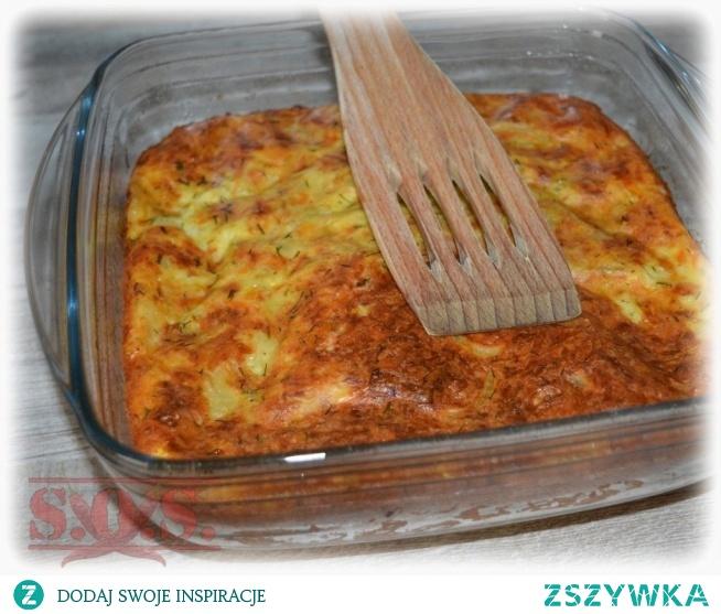 Bardzo fajna zapiekanka z cukinią i żółtym serem – lekka, delikatna, bardzo smaczna;)