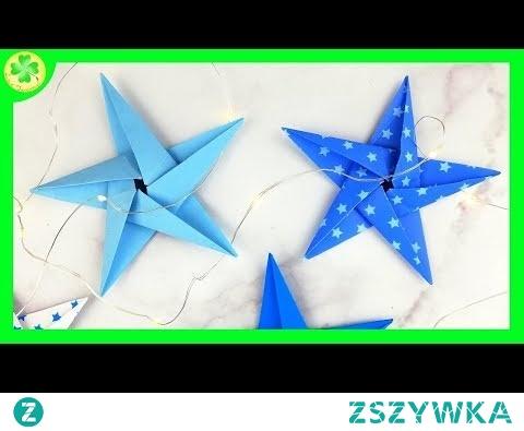 Pięcioramienna Gwiazda Origami (Instrukcja)