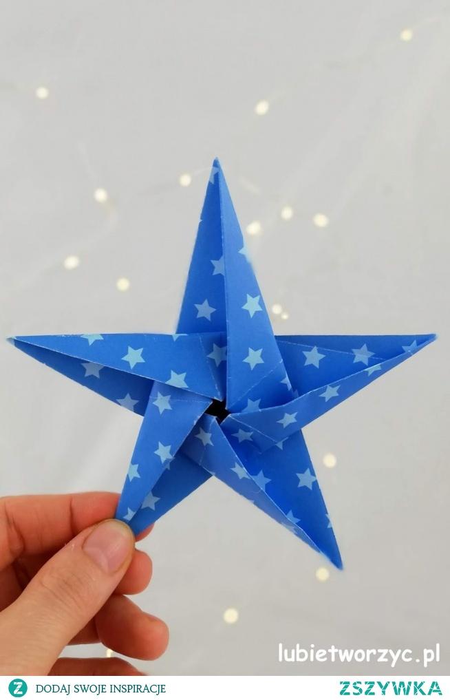 Tutorial, z którego dowiecie się, jak stworzyć śliczną, papierową gwiazdkę metodą origami ;)