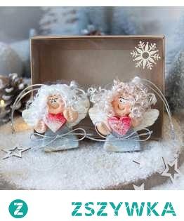 Zapraszamy do zakupu pary uroczych aniołków na zawieszce - jeden z najpiękniejszych i najbardziej wyjątkowych PODARKÓW BOŻONARODZENIOWYCH