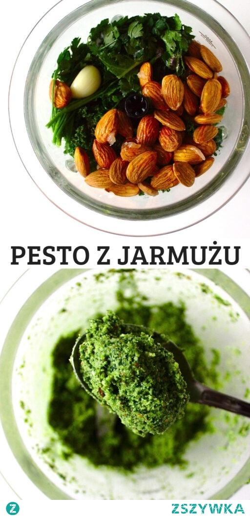 Zdrowe zielone pesto z jarmużu w 5 minut!