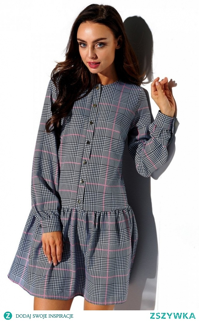 Lemoniade Koszulowa sukienka w kratę L311