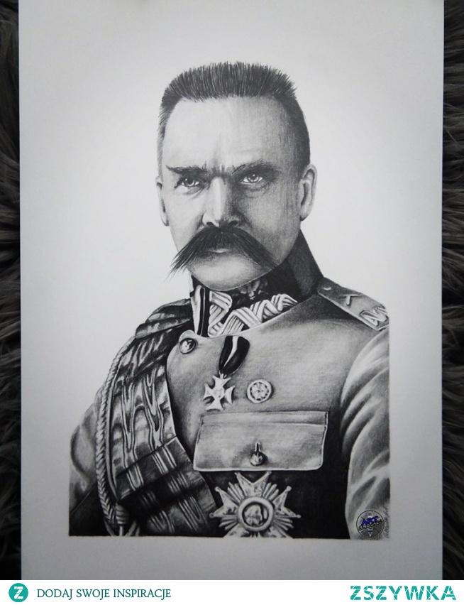 Z okazji 11 listopada i 101 rocznicy odzyskania przez Polskę niepodległości wykonałem portret Józefa Piłsudskiego.