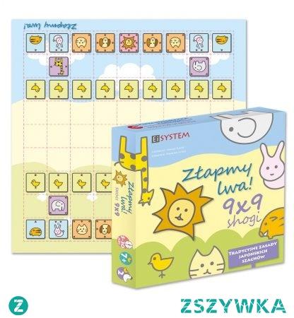 """Doskonała na prezent dla dziecka 5-8 lat gra """"Złapmy Lwa"""" - polska wersja japońskich szachów."""