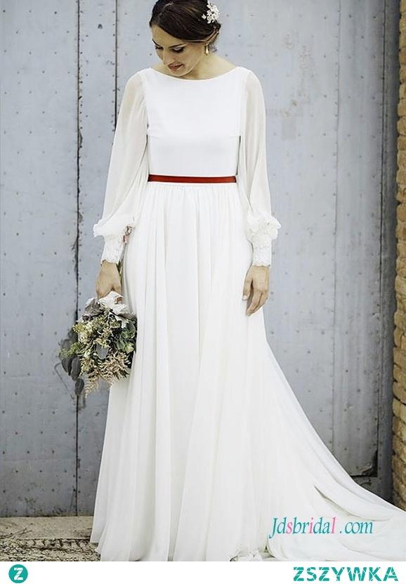 Vintage z długim rękawem #weddingdress Model: H0549 (darmowa wysyłka na cały świat) Wyszukaj na stronie numer modelu, link w biografii