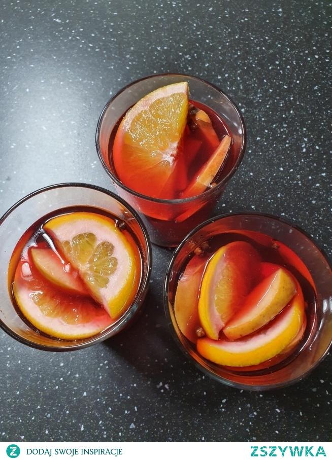 Pierwsze zimowe rozgrzewające herbaty z hibiskusa i owoców :) w moim wykonaniu