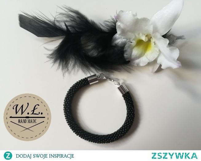 Czarny Puch - bransoletka idealna na każdą okazje :)