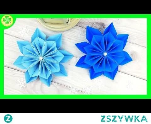 Ośmioramienna Gwiazda Origami - DIY świąteczne dekoracje (instrukcja)