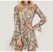 Szyfonowa sukienka w cętki. --> sprawdź klikając w obrazek
