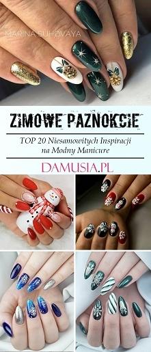 Zimowe Paznokcie – TOP 20 Niesamowitych Inspiracji na Modny Manicure na Zimę