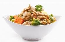 Smażony kurczak z brokułami...