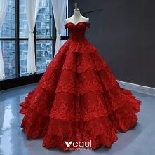 Luksusowe Czerwone ślubna S...