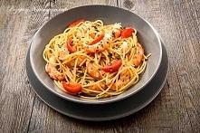 Spaghetti z krewetkami i po...
